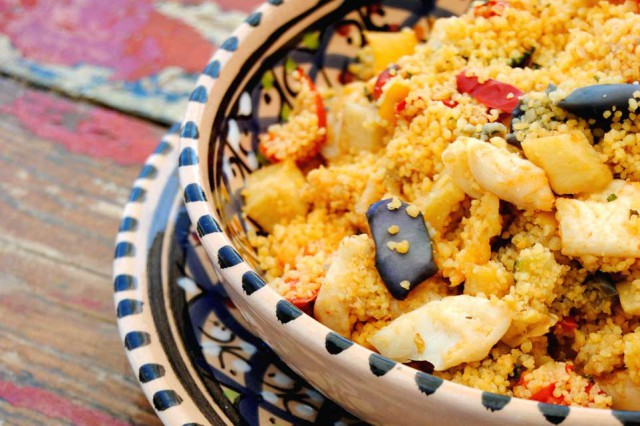 Cous cous with fish is typical in Favignana and Trapani area